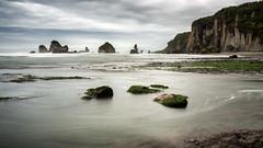 Motukiekie (loveexploring) Tags: longexposure sea newzealand seascape beach landscape coast pacificocean southisland tasmansea westcoast seastack motukiekie