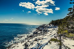 (Dacney) Tags: ocean trees winter snow nature photography rocks forrest maine scenic newengland adventure explore caves destiny fox cave tones feature coates scenicroute newenglandwinter dacney