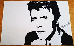 David Bowie (19Abigail91) Tags: blackandwhite white david art illustration pen pencil paper sketch bowie graphics artist gallery graphic drawing creative picture duke artsy masterpiece davidbowie deaw whiteduce