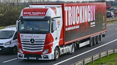 YH14 XKY (panmanstan) Tags: uk truck wagon mercedes yorkshire transport international lorry commercial vehicle a1 darrington mp4 actros