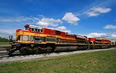 Wrecked Belles at MAC (Jeff Carlson_82) Tags: railroad train mac texas railway mo kansascity missouri damage kc wreck railfan wrecked kcs southernbelle emd kansascitysouthern 4124 4102 sd70ace fwwr midamericacar