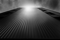 the flare (iker_oa) Tags: city white black building contrast canon flare 6d