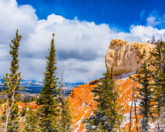 Bryce Canyon 12 (MarcCooper_1950) Tags: trees red sky orange snow colors clouds landscape utah nikon scenery rocks vivid canyon cliffs hills southern boulders hoodoo bryce rainfall hdr formations lightroom mounatins brycecanyonnationalpark geologic d810 marccooper