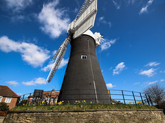 Holgate Windmill, York, Easter 2016 - 5 (nican45) Tags: york sky slr mill windmill canon easter march spring yorkshire roundabout sails sigma wideangle sail dslr 1020mm 1020 northyorkshire holgate fantail 2016 hwps 1020mmf456exdc holgatewindmill eos70d 25march2016 25032016