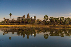 Angkor Wat under Moonlight (baddoguy) Tags: longexposure blue sunset sky sculpture reflection silhouette horizontal architecture photography twilight cambodia southeastasia khmer tranquility nopeople angkorwat illuminated unescoworldheritagesite backgrounds moonlight copyspace multicolored siemreap angkor awe majestic dramaticsky ancientcivilization sunbeam clearsky indochina tranquilscene unusualangle adulation traveldestinations colorimage famousplace beautyinnature leisureactivity buildingexterior internationallandmark stonematerial sunrisedawn cambodianculture