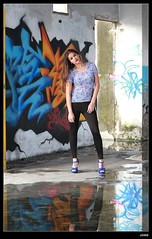 nEO_IMG_DP1U1587 (c0466art) Tags: light portrait water girl beautiful wall canon pose painting island nice colorful long pretty pants action body gorgeous country ruin line figure marta lovely charming tight elegant curve sao reflectiom tome antunes 1dx c0466art