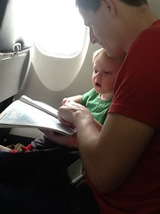 "Paul and Daddy Read the In-Flight Magazine on Paul's First Plane Ride • <a style=""font-size:0.8em;"" href=""http://www.flickr.com/photos/109120354@N07/26024010366/"" target=""_blank"">View on Flickr</a>"
