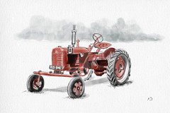 Tracteur D1959 (francoisedamery) Tags: dessin tracteur