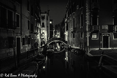 20110329_9784_Venetie-bw (Rob_Boon) Tags: venice cityscape zwartwit nacht italie venetie cityarchitecture robboon silvefpro2