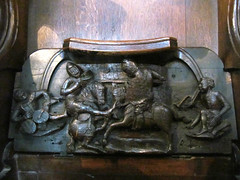 Worcester Cathedral (pefkosmad) Tags: wood choir carved cathedral seat carving medieval supporter worcestershire middleages furnishings worcester misericord worcestercathedral