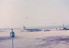 Heathrow (London) Airport 1963 (Ian Mulford) Tags: vintage heathrow dc8 boeing707 japanairlines quantas londonairport pamam vjet