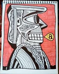 Personaje 1 #dibujo #dibujos #tinta #drawing #drawings (DIGIPOPS) Tags: drawing drawings dibujos dibujo tinta
