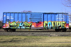 Pike Coupe (BombTrains) Tags: road railroad art train bench graffiti am paint tag graf rail spray pan graff pike tre coupe freight fr8 sfb benching
