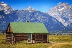 A Sunny Day at Mormon Row (Samantha Decker) Tags: cabin nps wyoming jacksonhole wy grandtetonnationalpark gtnp mormonrow canonef24105mmf4lisusm canoneos6d samanthadecker