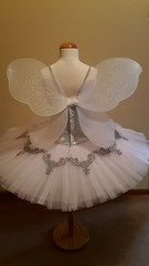 Ballet fairy (mongyandweasel) Tags: ballet white net up silver dance costume crystals wake dress lace silk fairy classical applique tutu brocade