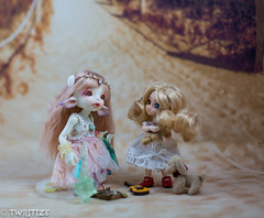 Skye and Rain (twilitize) Tags: camera baby cute skye art beautiful beauty rain canon cool doll dolls little sweet awesome adorable cutie adventure babydoll sweetie bjd pullip dolly darling fairyland elves daring dollphotography canonphotography realfee bjdphotography