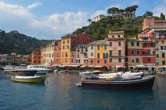 Entering Portofino (PhillMono) Tags: travel italy reflection heritage history architecture boat nikon europe yacht tourist terre dslr portofino cinque d7100