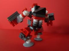 Muffaw (charlesmcjefferson) Tags: red robot lego mini tiny micro mecha bot mech