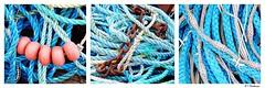 Srie de cordages (Isabelle Photographies) Tags: mer marine turquoise marin bleu normandie plage couleur barque color pche yport cordage