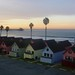 Southern California Winter Dawn: Roberts Cottages, the Beach and the Pacific, Oceanside CA