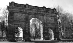 The Triumphal arch, Parlington woods, Aberford, Leeds. (MAMF photography.) Tags: old uk greatbritain england blackandwhite bw art monochrome beauty photo blackwhite google nikon flickr noir noiretblanc zwartwit unitedkingdom britain yorkshire negro north leeds gb upnorth zwart pretoebranco schwarz biancoenero westyorkshire greatphoto googleimages northernengland enblancoynegro zwartenwit aberford parlington mamf inbiancoenero schwarzundweis parlingtonhall nikond7100 mamfphotography