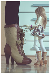When you and your doll have the same shoes (DreamSight) Tags: ball boot shoes doll boots ns bjd abjd msd jointed narae bimong lolitashoes