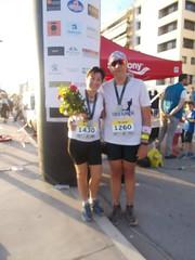 Mazi me tin Maria meta ton termatismo - 2 (illrunningGR) Tags: greece races halfmarathon volos marbie illrunning