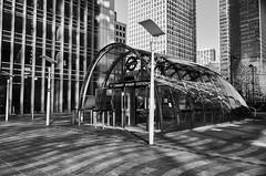 Canary Wharf Station (maxgor.com) Tags: leica city uk urban blackandwhite london architecture canarywharf rawstreets maxgor maxgorcom