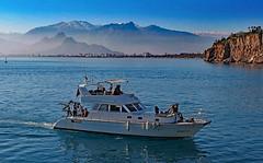 Views at lunch... (werner boehm *) Tags: sea turkey boot boat taurus mountainrange wernerboehm