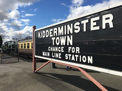 Kidderminster station, Severn Valley Railway, Worcestershire, England (PaChambers) Tags: uk england west station museum train spring railway steam severn valley april locomotive worcestershire westmidlands midlands carriages severnvalleyrailway rollingstock kidderminster 2016