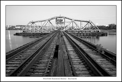 Westport Railroad Bridge (mono)- Baltimore, MD (Mike Keller Photo) Tags: bridges baltimore westport charmcity oldbridges oldrailroads westportrailroadbridge
