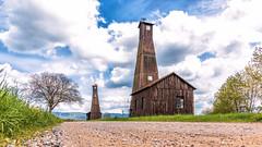 Salzbohrturm (McWhite) Tags: blue sky cloud green cloudy salt himmel wolken basel aargau salz mhlin