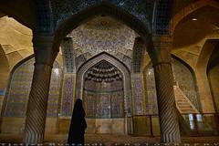 Vakil Mosque mimbar (T   J ) Tags: nikon iran hijab d750 shiraz chador teeje nikon2470mmf28