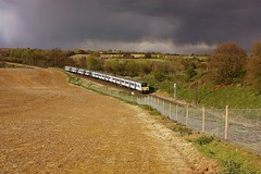 Dusty-Bins and a threatening Sky (Chris Baines) Tags: london st liverpool 321 class service ipswich aga emus brantham