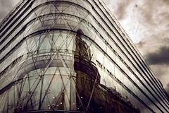 layers (kareszzz) Tags: sky reflection building window architecture clouds reflections office spring hungary sony budapest dramatic april backlit 1855 vrsmartytr 2016 nex3 sonynex3