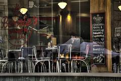 Alone with my Loneliness (Nicols Rosell) Tags: barcelona street city urban espaa bar reflections person calle spain nikon europa europe ciudad catalonia personas reflejo urbana catalunya d7100 nikond7100