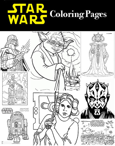 In Honor Of The Newest Release Force Awakens Here Is A Round Up Star Wars Coloring Pages I Prefer Full Page So Have Chosen That