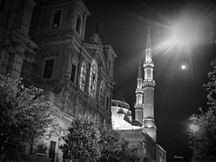 St George Church (D.T. Beirut) (Ramy.) Tags: travel lebanon church st four lumix town george down el mosque panasonic micro beirut mohammad beyrouth liban thirds amine lbano gx7 mirorless dmcgx7
