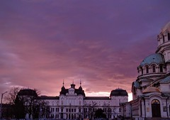 Alexander Nevsky Cathedral and SQUARE 500 (stranger_bg) Tags: travel roof red sky cloud sun color building art church colors architecture clouds sunrise square colorful purple cathedral photos sofia outdoor picture bulgaria cielo christianity alexander 500 nevsky храм катедрала българия софия паметник християнство вяра александър невски туризъм