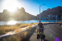 Cycling through the Bahia in San Carlos.