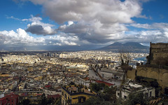 The sky over Naples (Fil.ippo) Tags: sea sky panorama clouds volcano cityscape napoli naples vesuvio hdr filippo certosadisanmartino d7000 filippobianchi