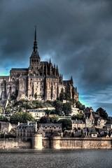 Mont St Michel 2 - HDR (Passionalys°) Tags: sky france water architecture landscape eau ciel paysage mont hdr montstmichel