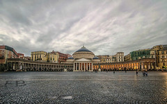 Piazza del Plebiscito (Fil.ippo (AWAY)) Tags: travel italy cityscape napoli naples filippo piazzadelplebiscito sigma1020 d7000 filippobianchi marzo2016challengewinnercontest