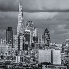 London Giants (aurlien.leroch) Tags: uk england blackandwhite london skyline nikon europe skyscrapers londres shard gherkin tower42 skygarden cityoflondon 122 leadenhall cheesegrater 20fenchurchstreet d3000 122leadenhall herontower