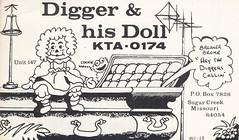 Digger & His Doll - Sugar Creek, Missouri (73sand88s) Tags: vintage doll missouri sesamestreet sugarcreek qsl cb coffin suddendeath cbradio