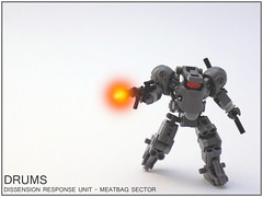DRUMS (cmaddison) Tags: toy robot lego scifi mecha bot mech dystopia drone postapoc droneuary