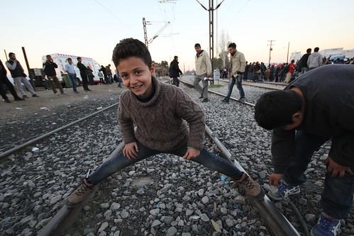 Refugee child at Eidomeni