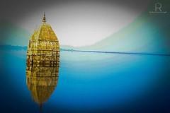 When I dipped into the Ocean... (rahul ravi singh) Tags: blue reflection water landscape temple dam slrphotography uploaded:by=flickstagram instagram:photo=11448490263428763492267891948 instagram:venuename=khutaghatdamnearratanpur instagram:venue=600150427