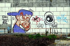 5 - Quai d'Alfortville Sur l'autre rive, street art (melina1965) Tags: streetart nikon ledefrance february fvrier valdemarne 2016 ivry alfortville ivrysurseine d80 photoscape