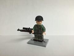 Figbarf Friday (Panzerwaffe1) Tags: usa lego pacific camouflage ww2 1942 marineraider brickmania figbarffriday danialsiskind